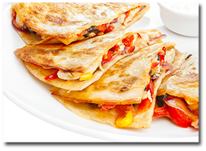 Quesadilla With Corn And Bell Peppers